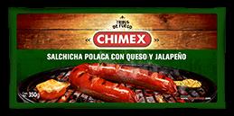 Empaque Salchicha Polaca con Queso y Jalapeño Chimex